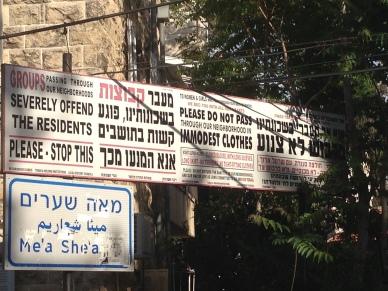 Entering Mea Shearim