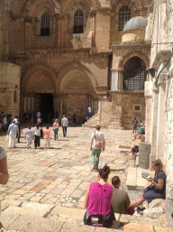 The court of the Church of the Holy Sepulchre