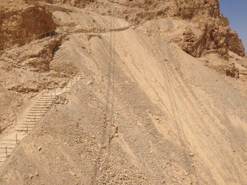 Masada - view from the cable car
