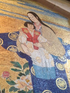 Japanese Mary in the Basilica of Annunciation