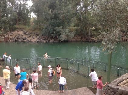 Yardenit- the Baptismal ceremony