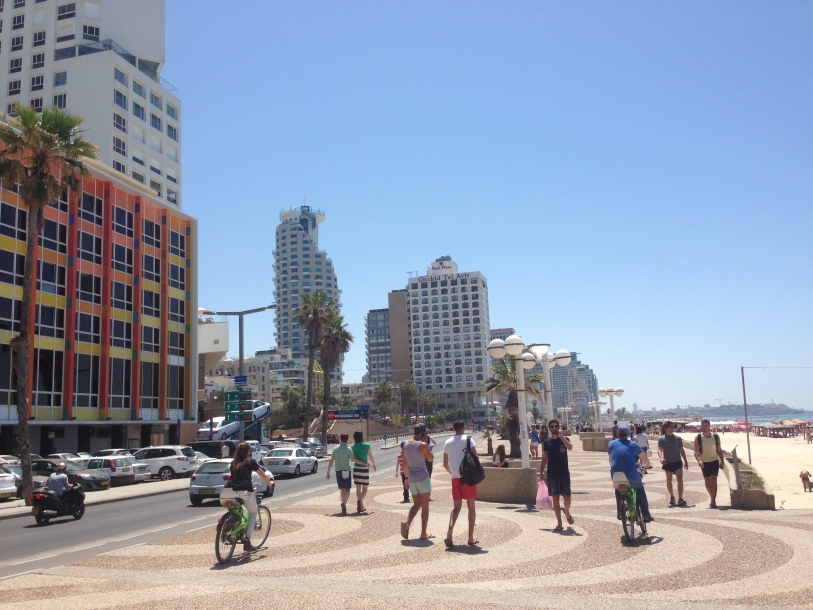 Leisure strip at the beach in Tel Aviv