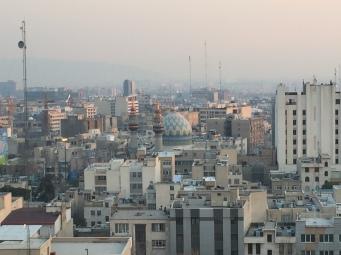 Teheran - po przyjezdzie - widok na poludniowe dzielnice (5)