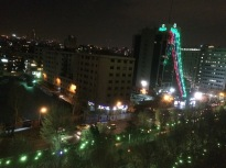 Night view from Espinas