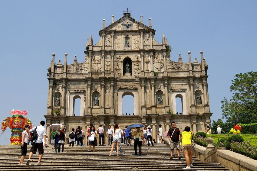 The ruins of St. Paul cathedral
