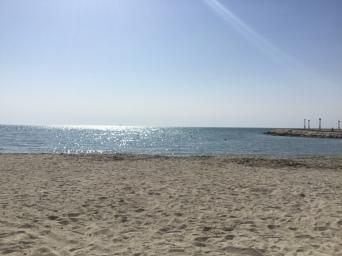 Sandy beaches of Bahrain in Zallaq