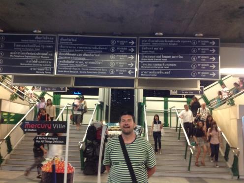 Monorail station in Sukhumvit