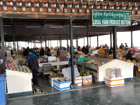 Local food section of the market