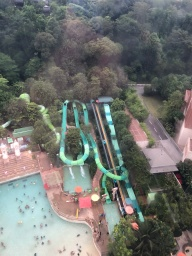 View to the Aquapark on Sentosa Island