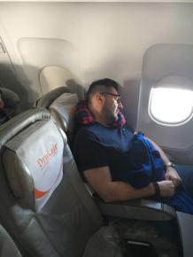 On the flight to Paro
