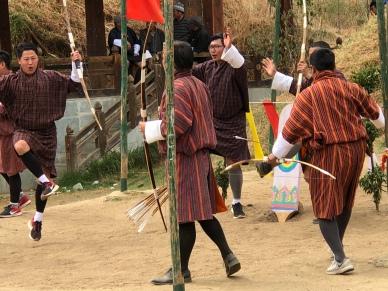 Archery tournament in Thimphu