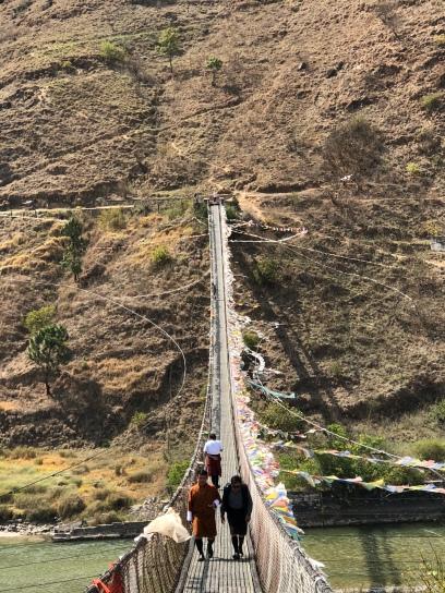 Hanging Bridge in Punakha