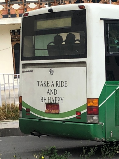 Public bus in Thimphu