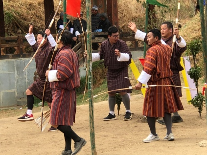 Archery tournament in Thimphu