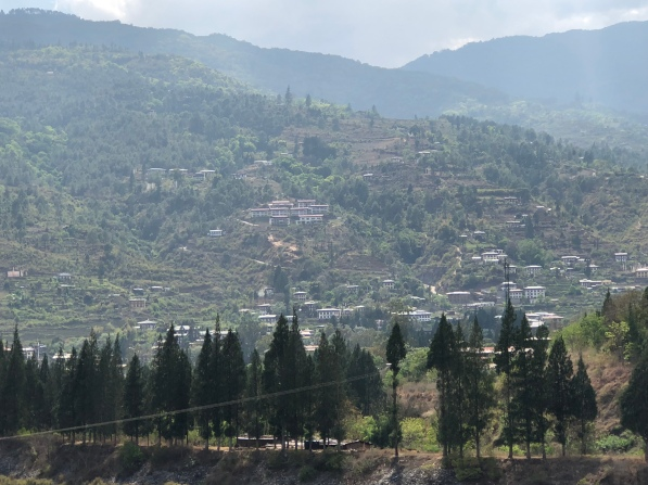 View from Punakha Dzong