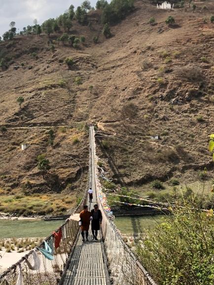Hanging bridge Punakha