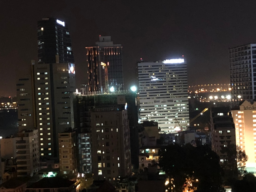 Saigon - night view from the rooftop of our hotel