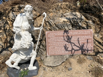 Gardens on the hill with Jesus Christ statue