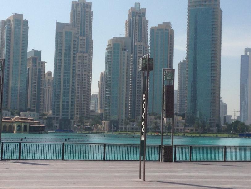 Before entering Burj Khalifa
