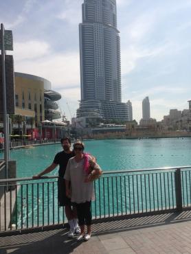 In front of Burj Khalifa
