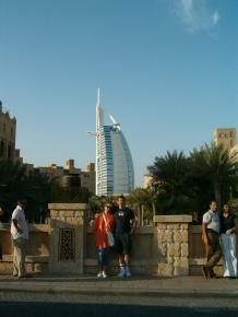 In front of Madinat Jumeirah