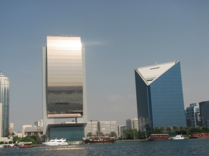 Dubai skyline in 2005 - view from Dubai Creek